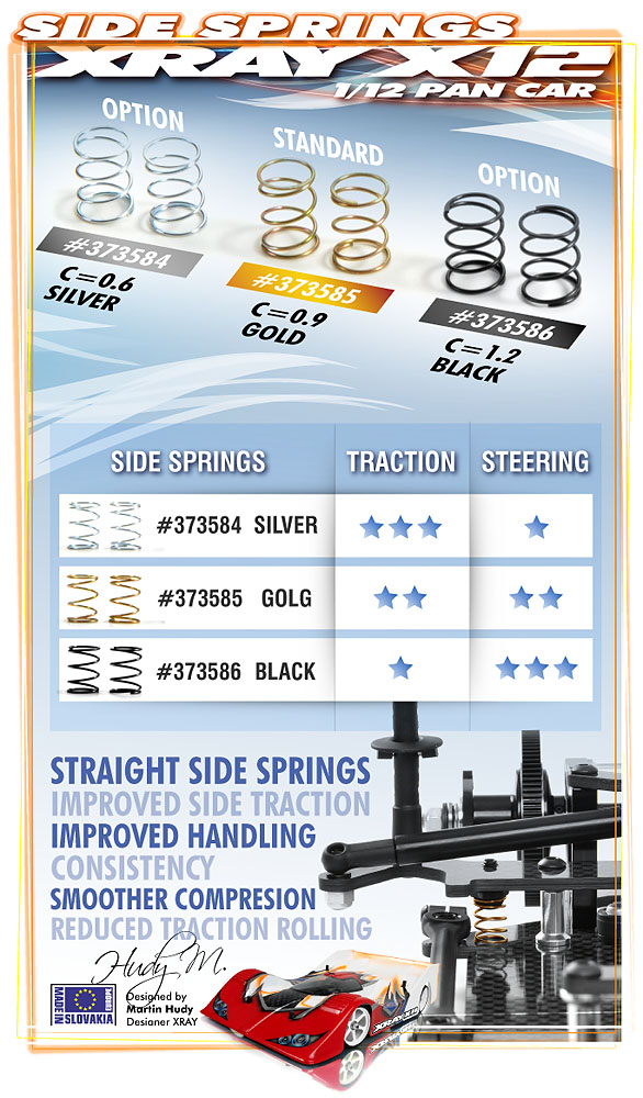 Xray 373585 Springs Side Gold C = 0.9