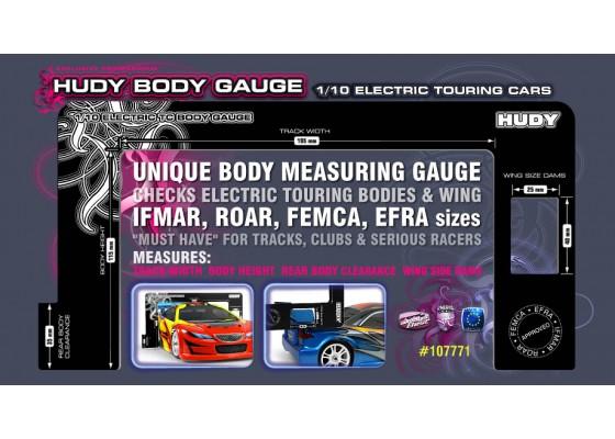 1/10 Elektrikli Touring arabaları için gövde ölçer