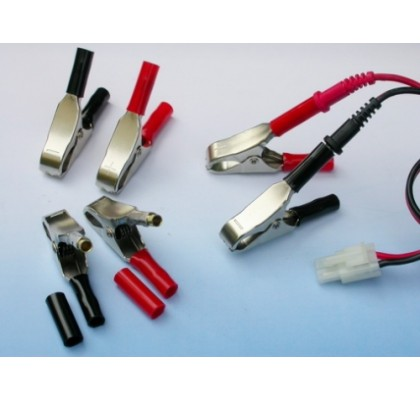 15A Alligator Clips -Accepts 4mm Banana Plugs