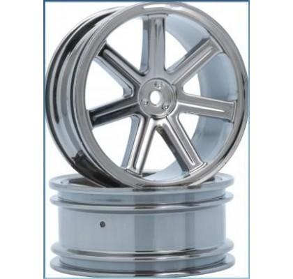 8-Spoke Wheel front black-chrome (2 pcs) - S10 BX