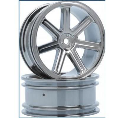 8-Spoke Wheel rear black-chrome (2 pcs) - S10 BX
