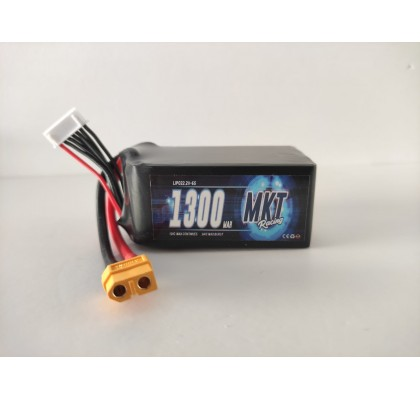 1300mAh 120C 6S Flight Lipo