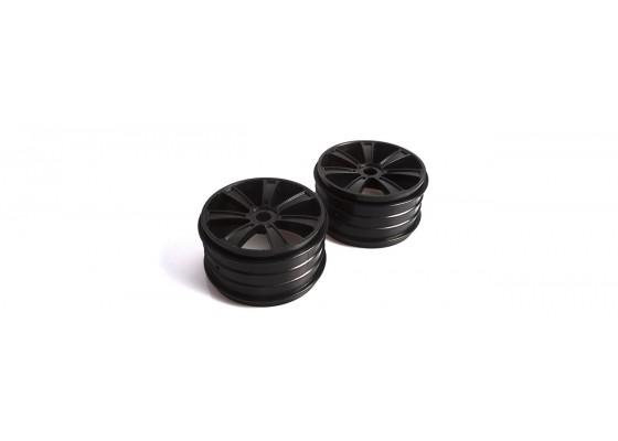 1/8 Truggy Wheel Black- 1 Pair-Rebel TX