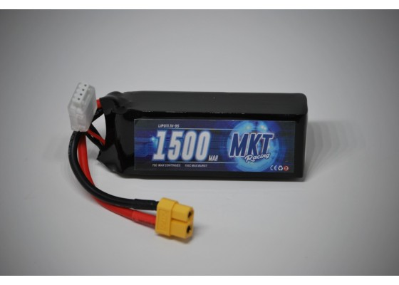 1500mAh 75C 3S Flight Lipo