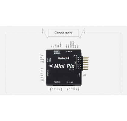 Mini PIX V1.0 F4 Flight Controller STM32F405 MPU6500 With Barometer Compass for RC Drone FPV Racing