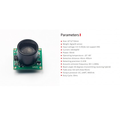 PIXHAWK Transmitting Receiveing hybrid ultrasonic sensor