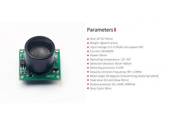 Transmitting Receiveing hybrid ultrasonic sensor