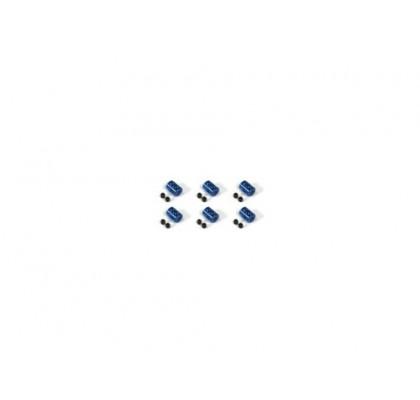İki Delikli Aluminum Stopper, Mavi, 6-Parça