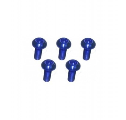 M3x6 Alu 7075 Blue Button Head Hex Screw (5 Pcs)