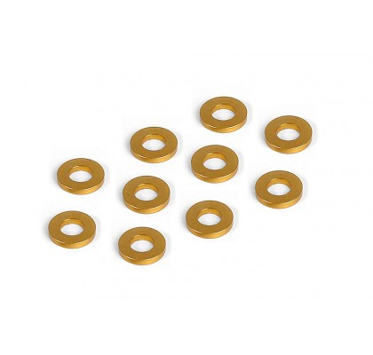 Orange Alu Shim 3x6x2.0mm