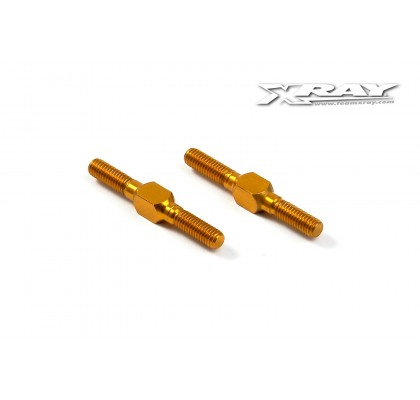 Alu Adjustable Turnbuckle M3 L/R 26mm - Orange (2)