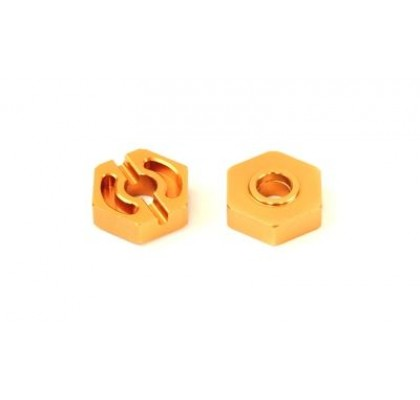 ALLOY WHEEL HEX (14mm)(2pcs)(GOLD)