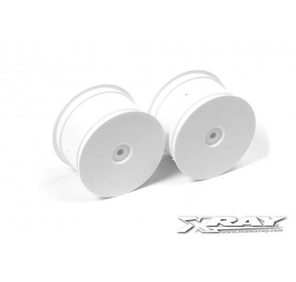Rear Wheels Aerodisk - White (2) Xray XB4