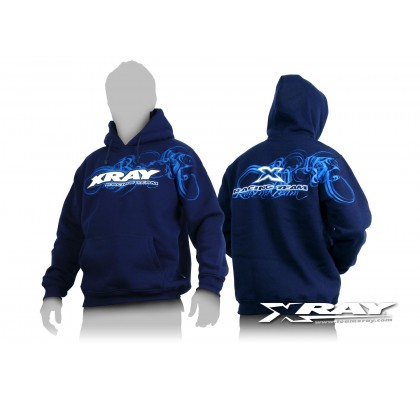 XRAY Sweater Hooded - Blue (XL)