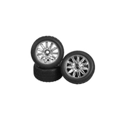 1/8 TRUGGY TIRE AND WHEEL SET