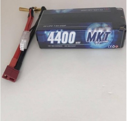 4400mAh 100C 2S HB Shorty Lipo Black Line Battery 7.6V