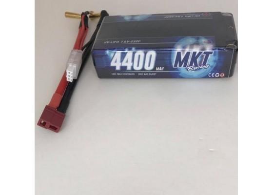 4400mAh 100C 2S HB Shorty Lipo Black Line Battery 7.6V