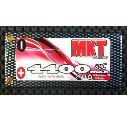 4400 90C 2S Shorty BLACK LINE LIPO BATTERY