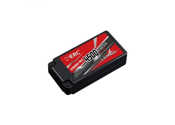 ERC Lipo Pil 4500mAh-2S1P-7.4V 50C/100C 4MM Soket Shorty