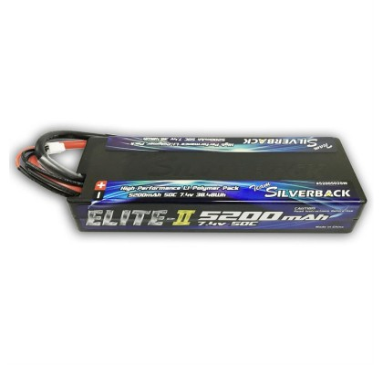 Elite 5200mah LCG Low Profile 50C 7.4V Hard Case