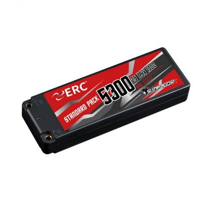 ERC Lipo Pil 5300mAh-2S1P-7.4V 50C/100C