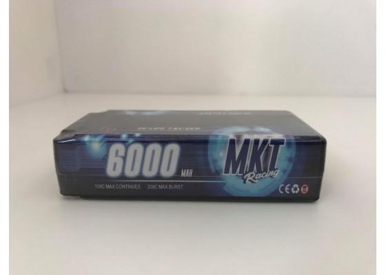 6000mAh 100C 2S HB Shorty Lipo Black Line Battery 7.6V