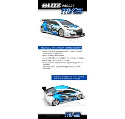 MK9 1/10 190MM Touring Car Body-Shell