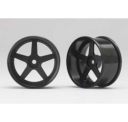 5 Spoke Black 6mm Offset Wheel (1 Pair)