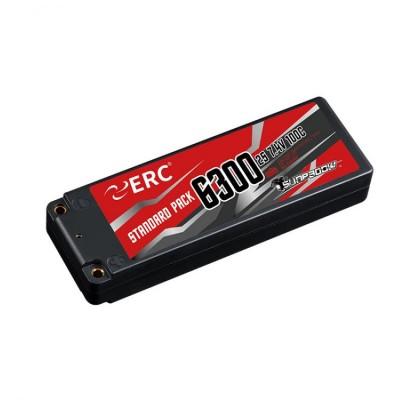 ERC Lipo Pil 6300mAh-2S1P-7.4V 50C/100C 4MM Soket