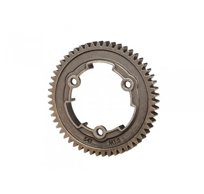Steel Spur Gear, 54-tooth (1.0 Metric Pitch)