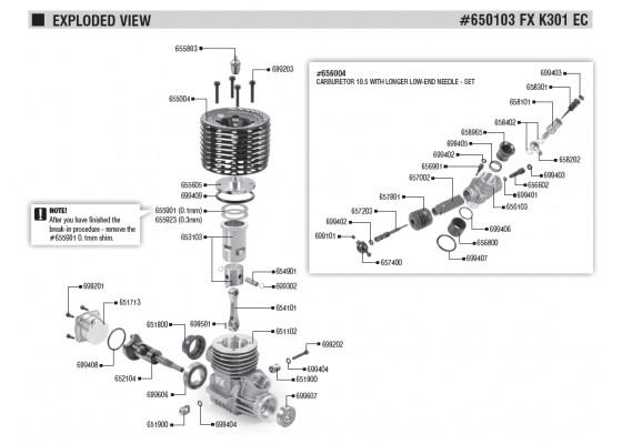 K301-EC-3 Port-Yarış Motoru Ve 659503 2131 Eksoz/ 659704 Manifold M Seti