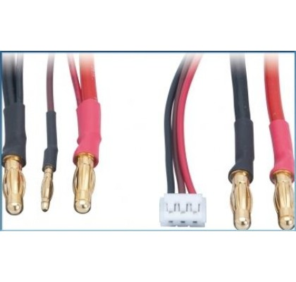 universal charging lead - 2S LiPo Hardcase incl. Balancing adapter