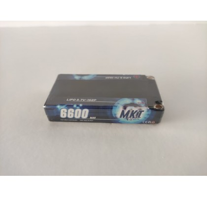 6600mAh 100C 1S Shorty Lipo Black Line Battery 3.7V
