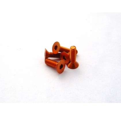 Orange Flat Head. M3x6 (5PCS)