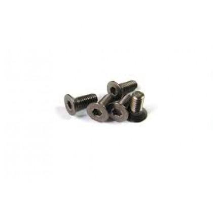 Titanium Hex Flat Screw M3x6