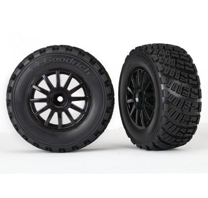 Tires & Wheels, Assembled, Glued (Black Wheels, Gravel Pattern Foam Inserts) (TSM rated)