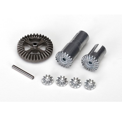 Gear Set, Differential, Metal (Output Gears (2)/ Spider Gears (4)/ Ring Gear, 35T (1)/ 2x14.8mm Pin (1))