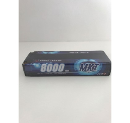 8000mAh 100C HV 2S Lipo Black Line Battery