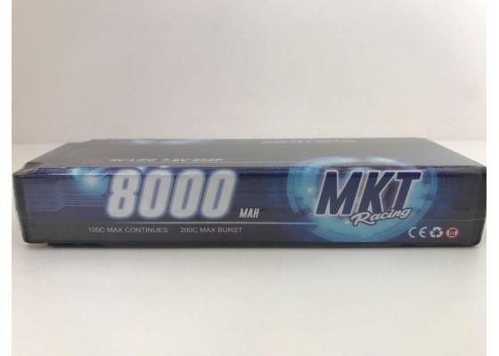 8000mAh 100C 2S Yüksek Voltaj Lipo Black Line Pil 7.6V