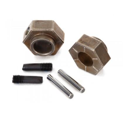 Wheel Hubs, 12mm Hex (2)/ Stub Axle Pins (2) (Steel)