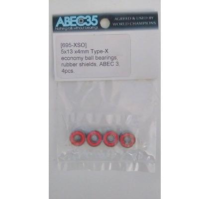 5x13x4 Type-X Economy Ball Bearings (4pcs)