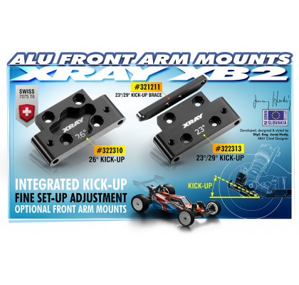 Alu Front Lower Arm Mount 23°/29° Kick-Up