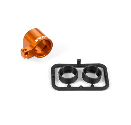 Alu Front Middle Shaft Holder - Orange - Set