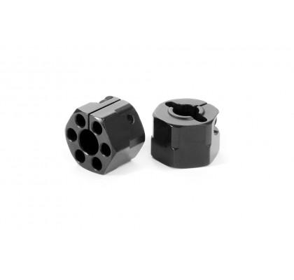 Alüminyum Hex 12mm - Siyah Offsetli +4.5mm (2)
