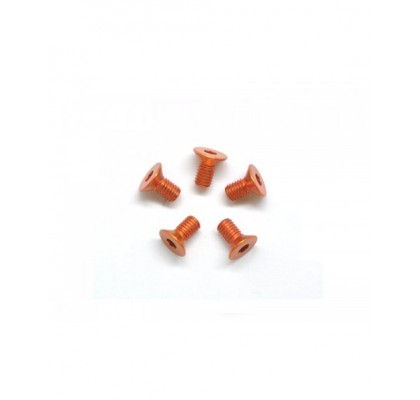 Orange Flat Head. M3x5 (5PCS)
