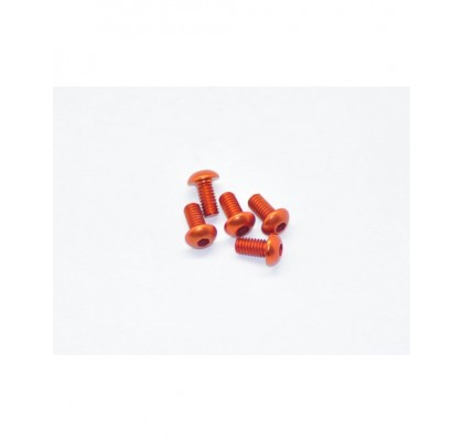 M4x12 Alu Screw Orange (5pcs)