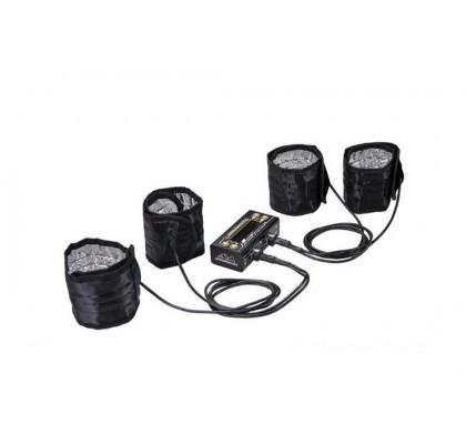 Tyre Warmer (1/8th) & Batt Warmer With Bag Black Golden
