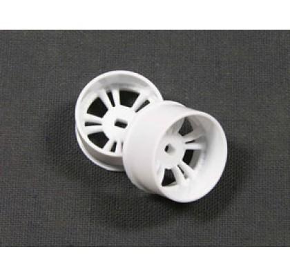 White T.S. Type Wheel (W) For Mini-Z AWD (3 offset)