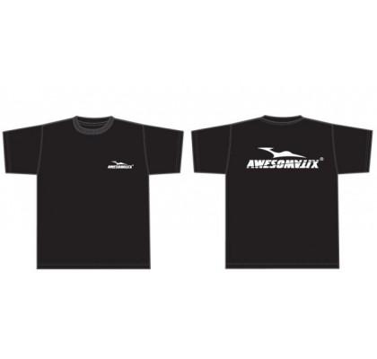 T-Shirt Siyah - beyaz logo (S)