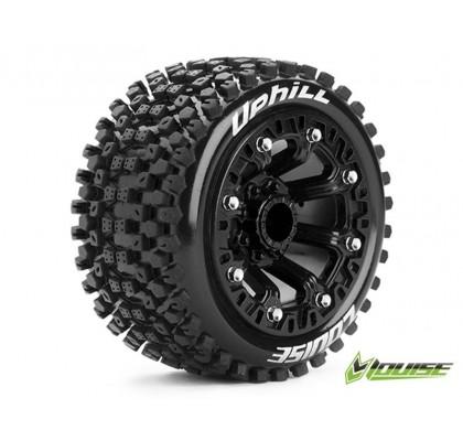 2.2 inc ST-Uphill 1/16 Stadium Truck Tire-Black Wheel Set (1Pair)
